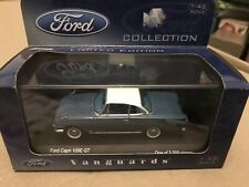 RARE VANGUARDS 1/43 VA03406 FORD CAPRI 109E GT AQUA BLUE LIMITED EDITION