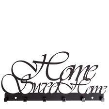 Schlüsselbrett HOME SWEET HOME - schwarz - Schlüselbord Key Hook Schlüsselleiste