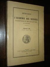 MEMOIRES DE L'ACADEMIE DES SCIENCES DE TOULOUSE - Volume 135 - 1973