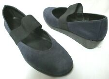 The FLEXX navy nubuck Leather Mary Jane wedge Comfort Shoes Size Sz 9