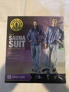 GOLD'S GYM Sauna Pants NEW Heavy Duty Vinyl Elastic Cuffs/Waist Size XL/XXL