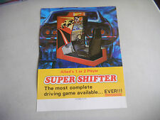 allied lesisure SUPER SHIFTER     ARCADE GAME  FLYER