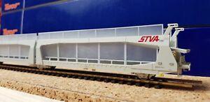 Roco STVA SNCF Wagon Porte-autos HO