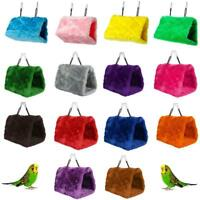 Bird Parrot Plush Hammock Cage Snuggle Happy Hut Tent Bed Bunk Toy Hanging X0P4
