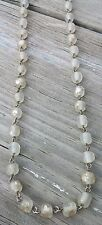 """Vintage Baroque Dimpled Glass Beaded 28"""" Necklace"""