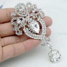 Women Pendant Brooch Pin Sp Vintage Style crystal Wedding Party