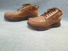 Dr. Scholl's Women's Brown Leather Ankle Boots Lace Up Size 8
