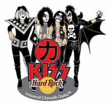 Hard Rock Cafe UCW Osaka Kiss Series Pin 2004 - Group Leather