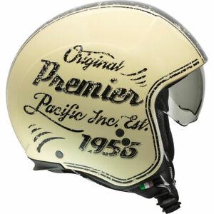 Premier Jethelm Rocker XL kratzr. Visier u. Pinlock-Innenvisier creme 945g