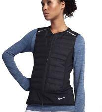 NIKE AeroLoft Reflective Running Vest Women sz XX-Large Black/Metallic Silver