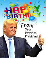President Donald Trump Birthday Card