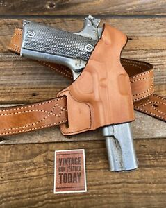 Bianchi Brown Leather Model 75 For Colt .45 1911 Government Model Right Draw