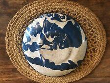 Graniteware Blue And White Saucer