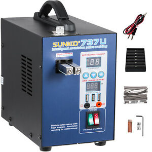 737U 2 Pulse Battery Spot Welder for 18650 + Battery Charge Test 50-800A 2.8KW