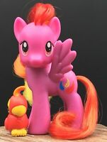 """My Little Pony FIM MLP G4 3"""" Brushable Feathermay w/Friend Great Condition"""