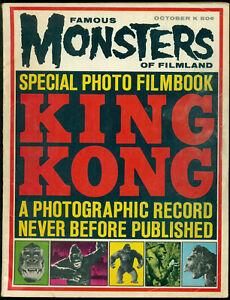 FAMOUS MONSTERS OF FILMLAND, OCTOBER 1963, KING KONG FILMBOOK, VINCENT PRICE!