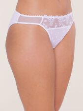 PASSIONATA MESH BRIEF WHITE NIGHTS SIZE XXL 16 18 SHEER LACE KNICKERS 4063 NEW