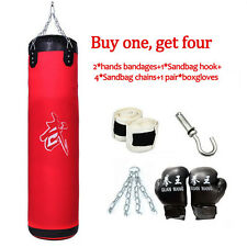 "39"" Heavy Boxing Canvas Training Punching Bag Hollow Martial Fitness MMA Workout"