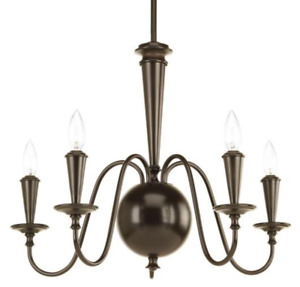 Progress Lighting Identity Collection 5- light Antique Bronze Chandelier