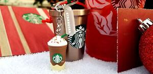 Starbucks Keychain Key Ring Charm Ice Coffee Frappuccino Caramel Blended Barista