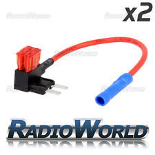 2x InLine 10 A Mini Lama Fusibile TAP CAR AUDIO rapido Ingition in diretta circuito di giunzione