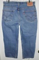 LEVI'S 550 Jeans Sz 34 (Short) Men Relaxed Fit Red Tab Distressed Mid Rise Blue