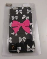 fits iPhone 6 cel phone case black white and pink bows