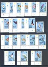BRITISH VIRGIN ISLANDS SG 560-578 1985 BIRD DEFINITIVE SET MNH