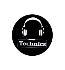 Feutrines Slipmats Technics Headphone x1 Dmc blanc fond noir