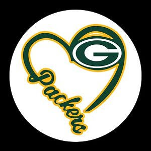 Green Bay Packers Heart 2 PACK NFL Decal - You Choose Size - FREE SHIPPING