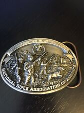 Preserving Our Hunting Heritage Belt Buckle NRA 1992 USA Numbered Guns Dog