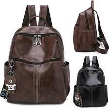Women Girls Leather Backpack School Bags Travel Casual Zipper Shoulder Rucksack