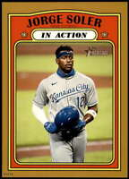 Jorge Soler 2021 Topps Heritage In Action 5x7 Gold Kansas City Royals  /10