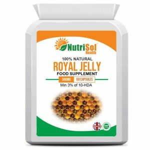 NutriSol Royal Jelly 500mg 60 Capsules Antioxidant Immune Skin Eye Heart Health