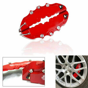 4x Car 3D Disc Brake Caliper Car Covers Front & Rear Kits Accessories Universal