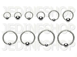 BCR Hoop Ball Closure Ring CBR | 1.2mm (16g) - 6mm-20mm | Stainless Steel