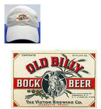 OLD BILLY BOCK BEER LABEL BALL CAP VICTOR BREWING