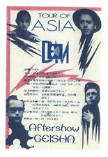 Depeche Mode - Tour of Asia - Konzert-Satin-Pass Geisha - Schönes Sammlerstück