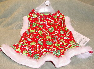 CANDY CANE GREEN AND RED HOLIDAY DRESS  SIZE SMALL