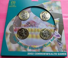 2002  ROYAL MINT COMMONWEALTH GAMES FOUR COIN SET BRILLIANT UNCIRCULATED