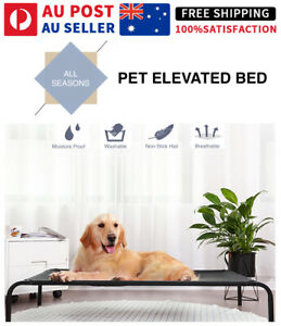 NEW Heavy Duty Pet Raised Bed Elevated Trampoline Hammock Cat Dog Raised Deluxe