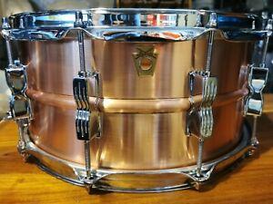 "Ludwig Acro Copper Snare Drum LC654B 14x6.5"""