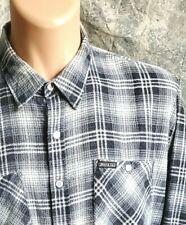 2xlt vtg DICKIES thin flannel shirt punk grunge trucker plaid 80s ROCKABILLY