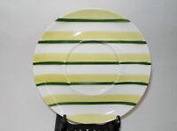 "W S George CARAVAN Ranchero 6.5"" Cup Saucers Green Chartreuse/Lime Stripe 1951"