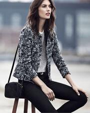 Ann Taylor - XS B&W Marled Wool Blend Cropped Jacket $179.00 NWT (H)