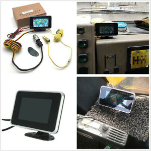 1x Car SUV Motorcycle 3in1 LCD Gauge Oil Pressure+Voltmeter+Water Temp Meter Kit