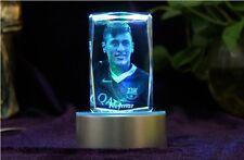 Neymar da Silva 3D Laser Engraving LED Crystal Carving FC Barcelona Souvenir