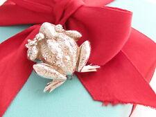 Frog Ribbit Brooch Pin Tiffany & Co Silver