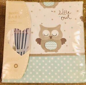 New Dunelm Baby Little Owls Blackout Curtains - W168 X D183 cm