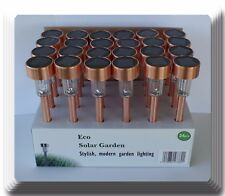24 NEW Outdoor Garden Stainless Steel (Copper plated) LED Solar Landscape Light